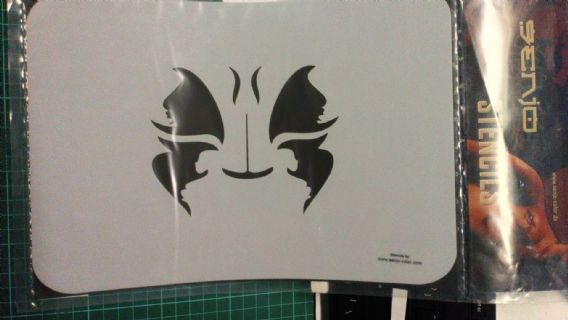 Stencil/Template/Shape Guide  'FACE..CAT'  A4 size   was £12 NOW £6.00 inc postage